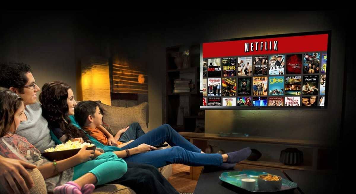 Guardare Netflix a casa